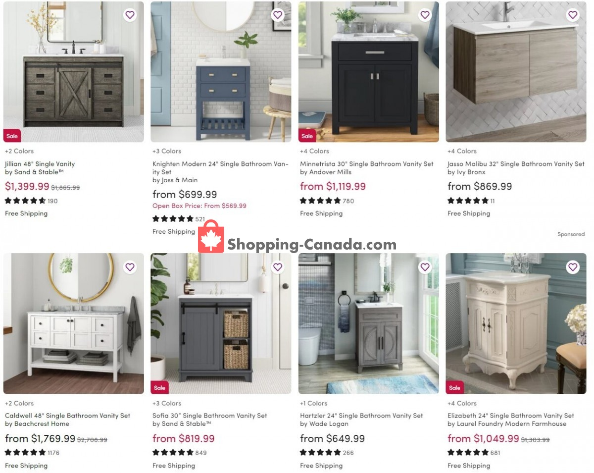 Flyer Wayfair Canada - from Wednesday September 8, 2021 to Tuesday September 14, 2021