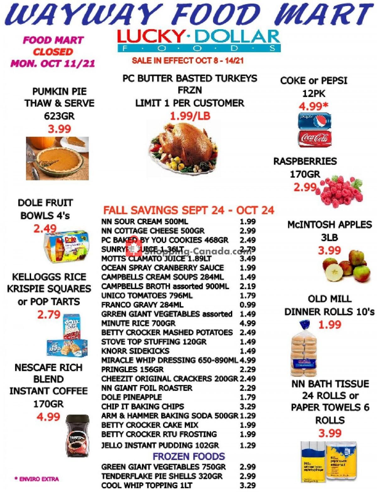 Flyer WayWay Food Mart Canada - from Friday October 8, 2021 to Thursday October 14, 2021