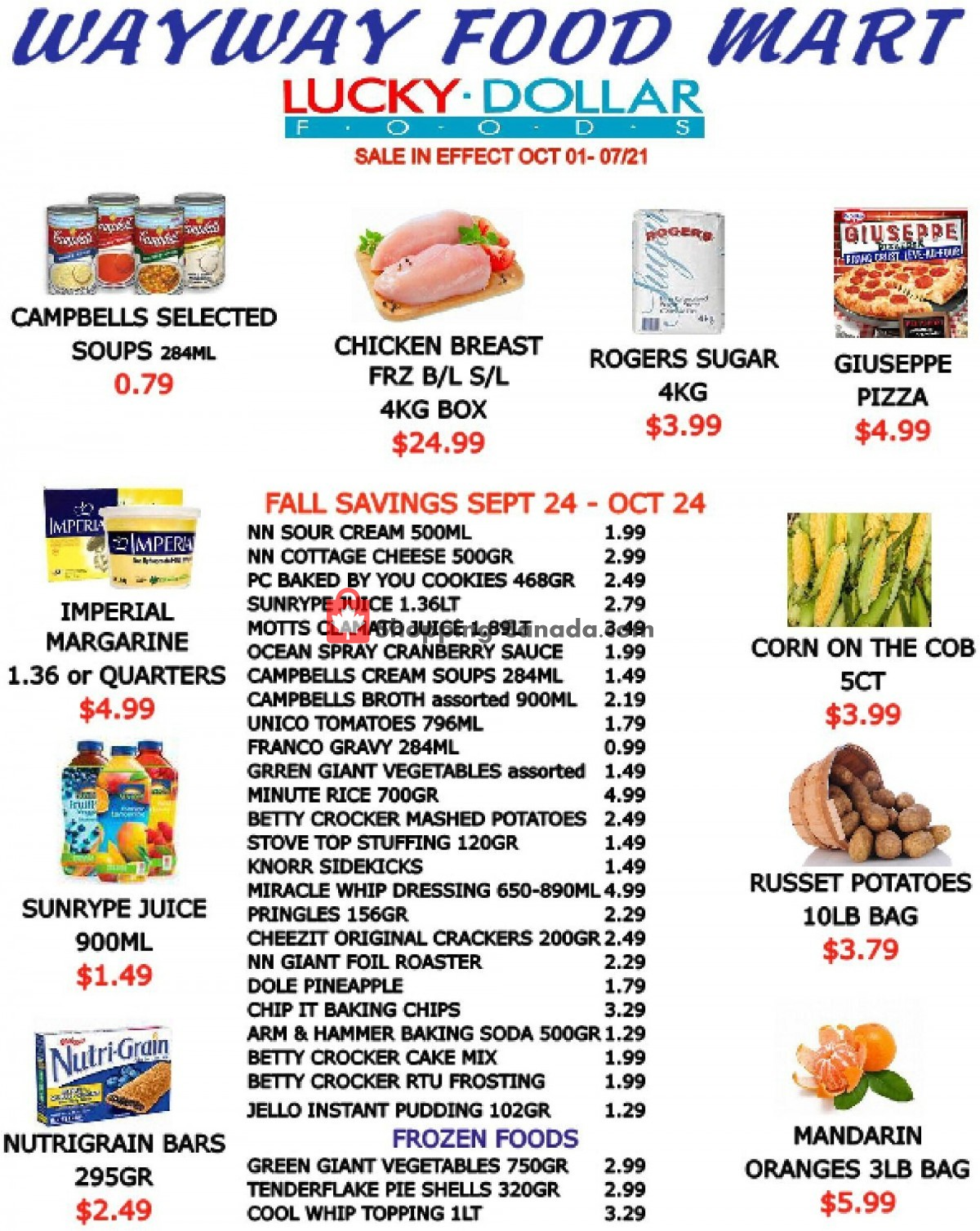 Flyer WayWay Food Mart Canada - from Friday October 1, 2021 to Thursday October 7, 2021
