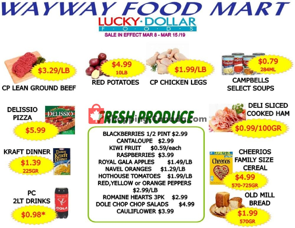 Flyer WayWay Food Mart Canada - from Friday March 8, 2019 to Friday March 15, 2019