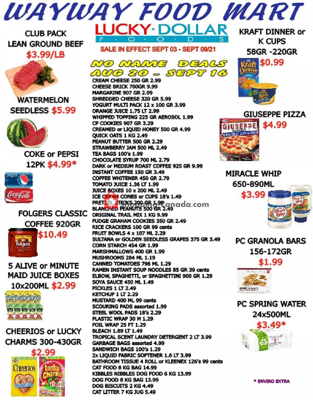 Flyer WayWay Food Mart Canada - from Friday September 3, 2021 to Thursday September 9, 2021