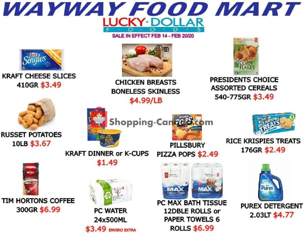 Flyer WayWay Food Mart Canada - from Friday February 14, 2020 to Thursday February 20, 2020