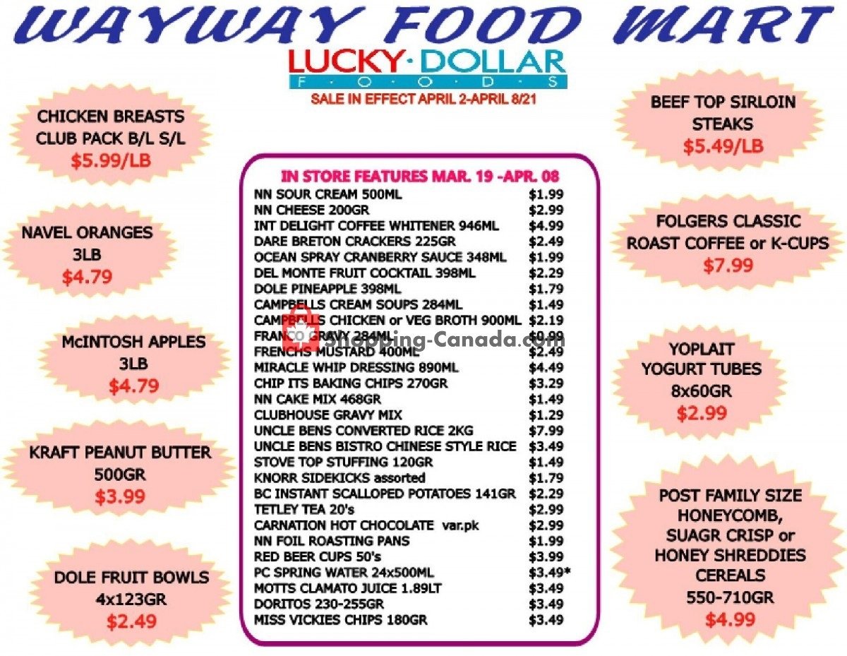 Flyer WayWay Food Mart Canada - from Friday April 2, 2021 to Thursday April 8, 2021