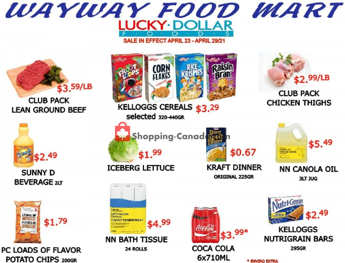 Flyer WayWay Food Mart Canada - from Friday April 23, 2021 to Thursday April 29, 2021
