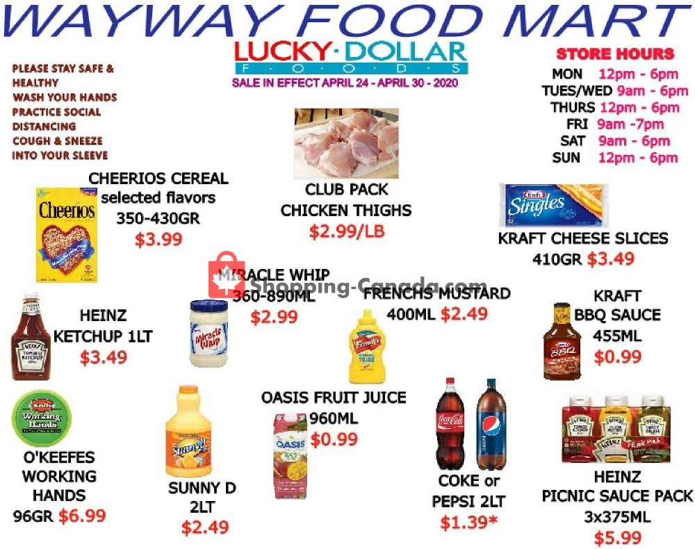 Flyer WayWay Food Mart Canada - from Friday April 24, 2020 to Thursday April 30, 2020