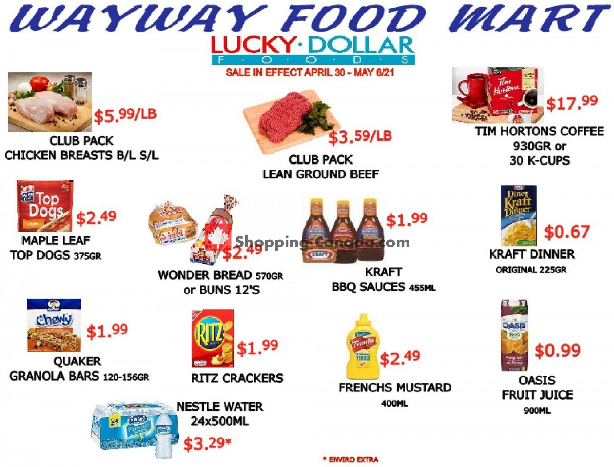 Flyer WayWay Food Mart Canada - from Friday April 30, 2021 to Thursday May 6, 2021