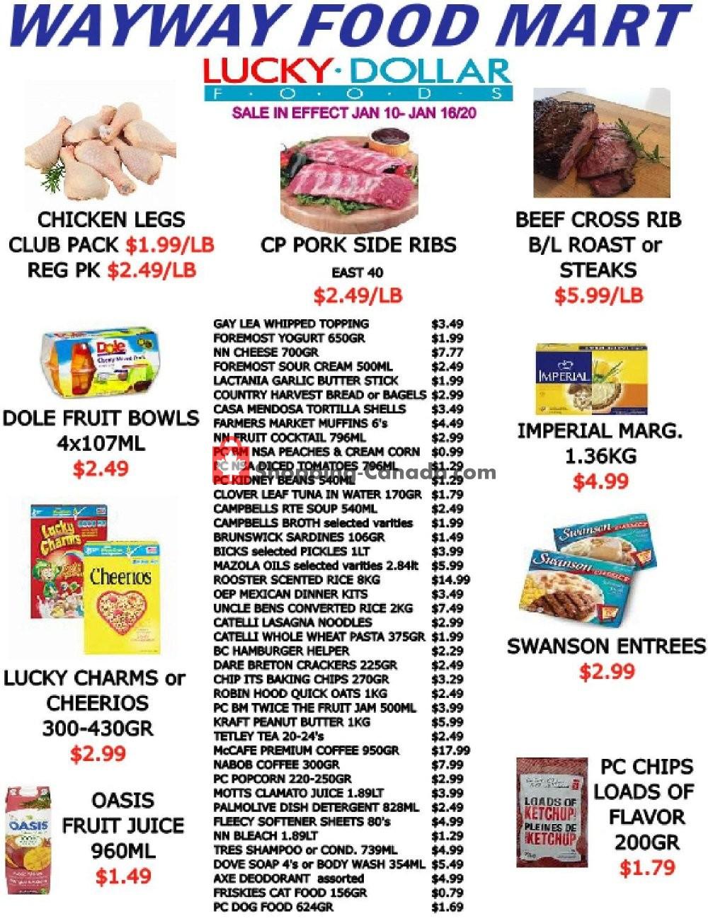 Flyer WayWay Food Mart Canada - from Friday January 10, 2020 to Thursday January 16, 2020