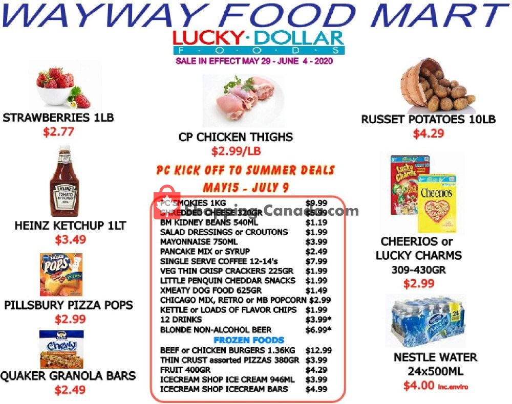 Flyer WayWay Food Mart Canada - from Friday May 29, 2020 to Thursday June 4, 2020