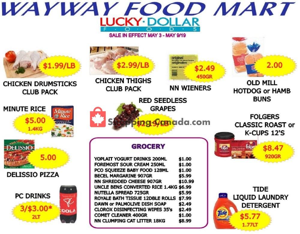 Flyer WayWay Food Mart Canada - from Friday May 3, 2019 to Thursday May 9, 2019