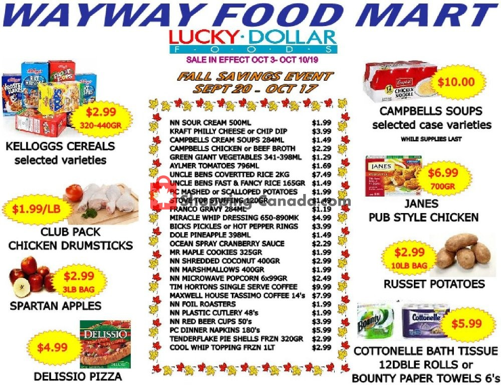 Flyer WayWay Food Mart Canada - from Thursday October 3, 2019 to Thursday October 10, 2019