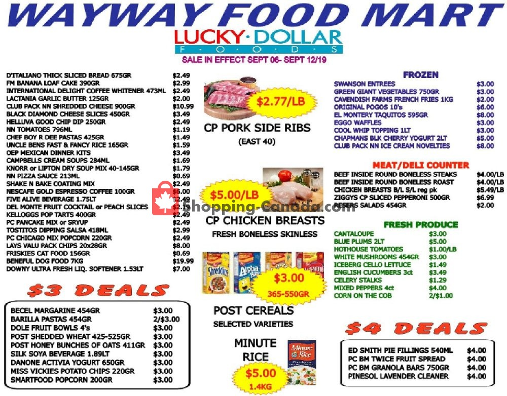 Flyer WayWay Food Mart Canada - from Friday September 6, 2019 to Thursday September 12, 2019
