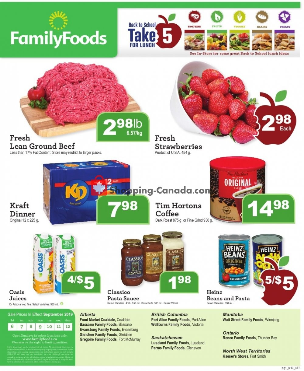 Flyer Wellburn's Food Market Canada - from Friday September 6, 2019 to Thursday September 12, 2019