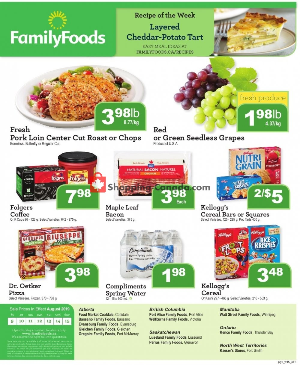 Flyer Wellburn's Food Market Canada - from Friday August 9, 2019 to Thursday August 15, 2019