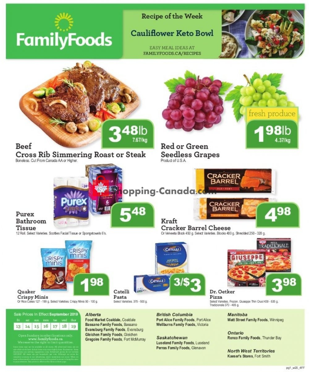 Flyer Wellburn's Food Market Canada - from Friday September 13, 2019 to Thursday September 19, 2019