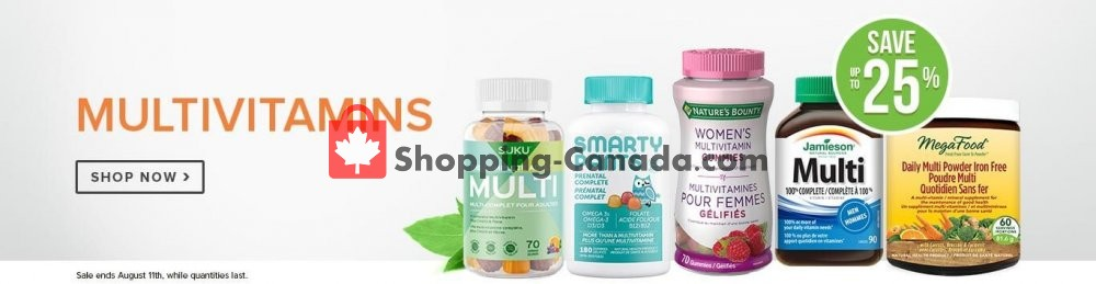 Flyer Well.ca Canada - from Monday August 5, 2019 to Sunday August 11, 2019