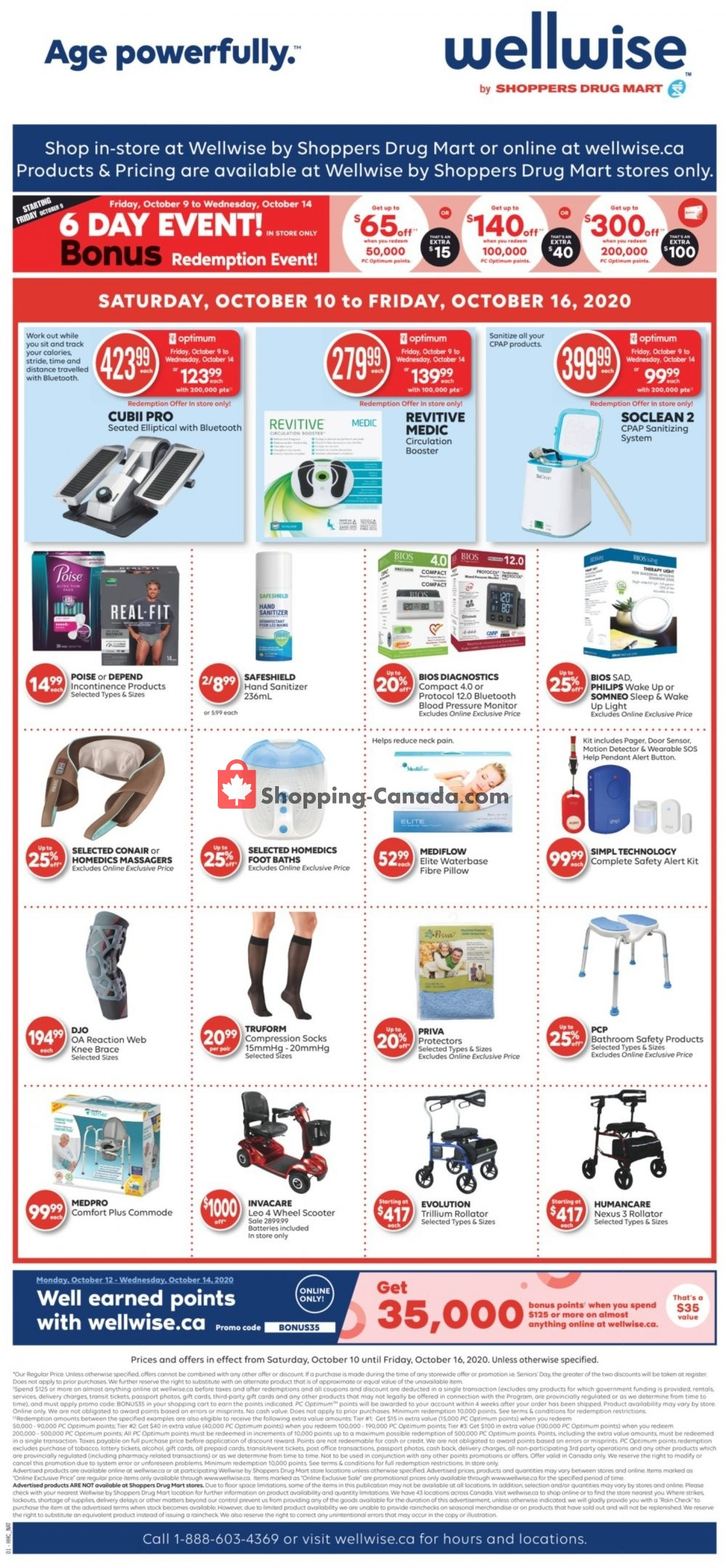 Flyer WellWise by Shoppers Drug Mart Canada - from Saturday October 10, 2020 to Friday October 16, 2020
