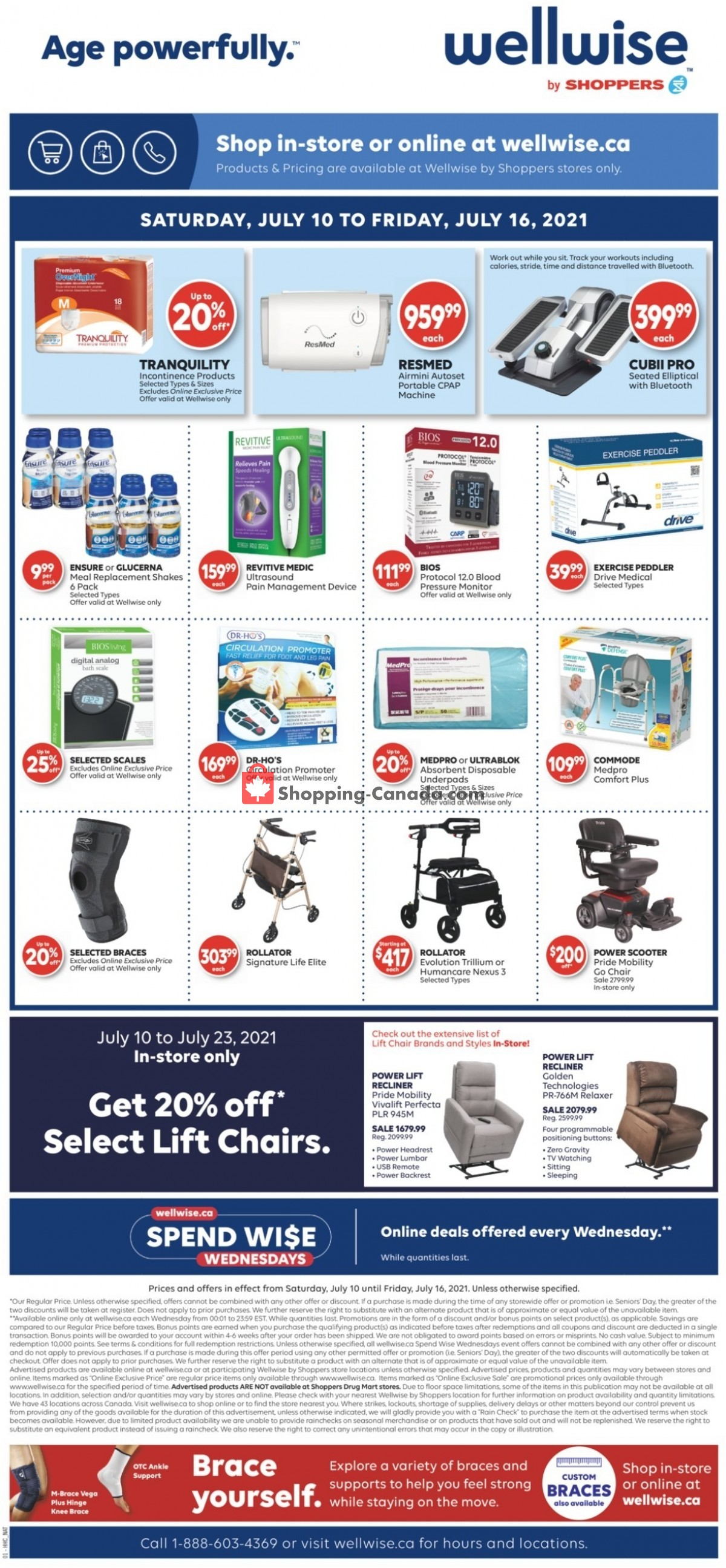 Flyer WellWise by Shoppers Drug Mart Canada - from Saturday July 10, 2021 to Friday July 16, 2021