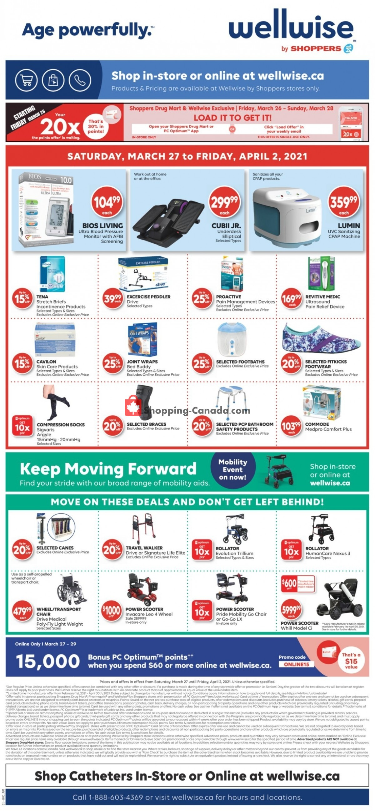 Flyer WellWise by Shoppers Drug Mart Canada - from Saturday March 27, 2021 to Friday April 2, 2021