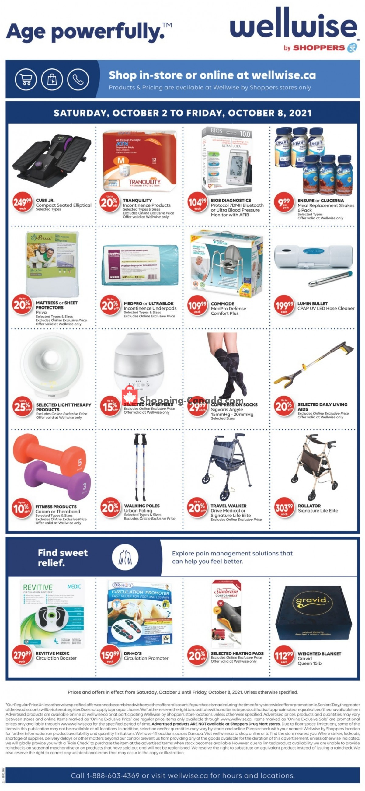 Flyer WellWise by Shoppers Drug Mart Canada - from Saturday October 2, 2021 to Friday October 8, 2021