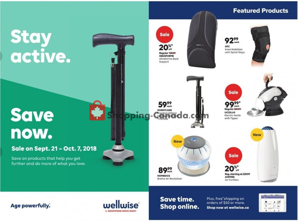 Flyer WellWise by Shoppers Drug Mart Canada - from Friday September 21, 2018 to Sunday October 7, 2018