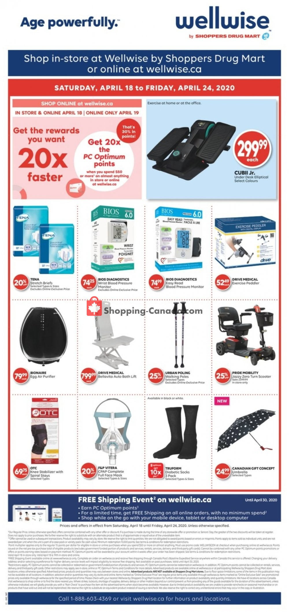 Flyer WellWise by Shoppers Drug Mart Canada - from Saturday April 18, 2020 to Friday April 24, 2020