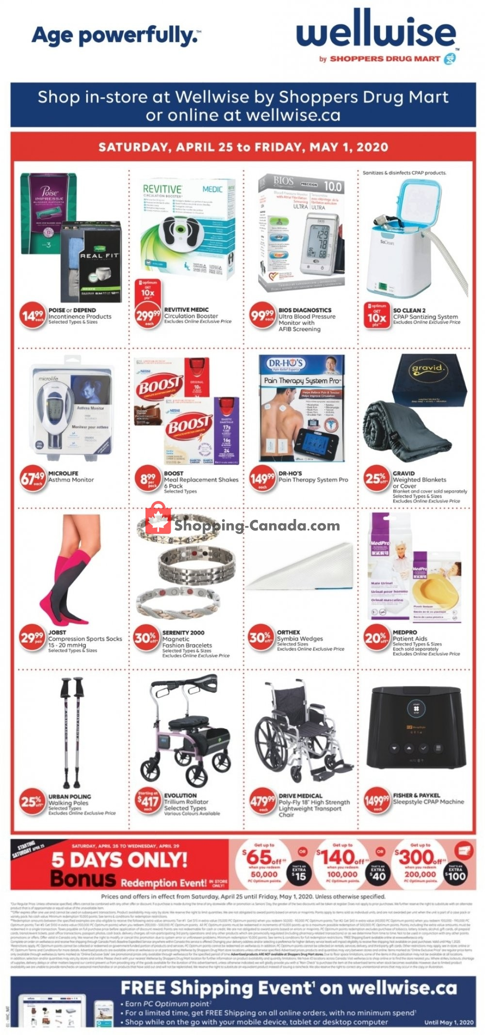 Flyer WellWise by Shoppers Drug Mart Canada - from Saturday April 25, 2020 to Friday May 1, 2020