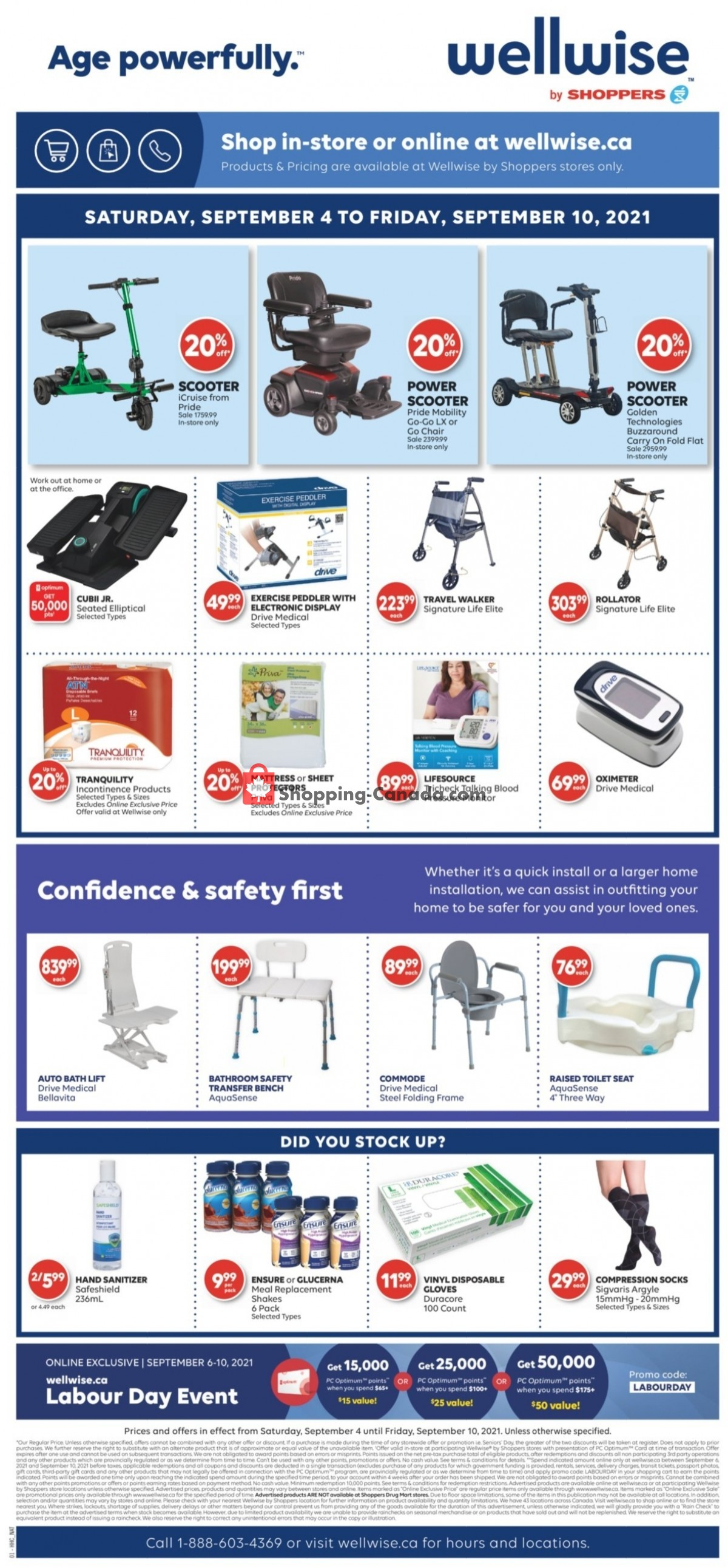 Flyer WellWise by Shoppers Drug Mart Canada - from Saturday September 4, 2021 to Friday September 10, 2021