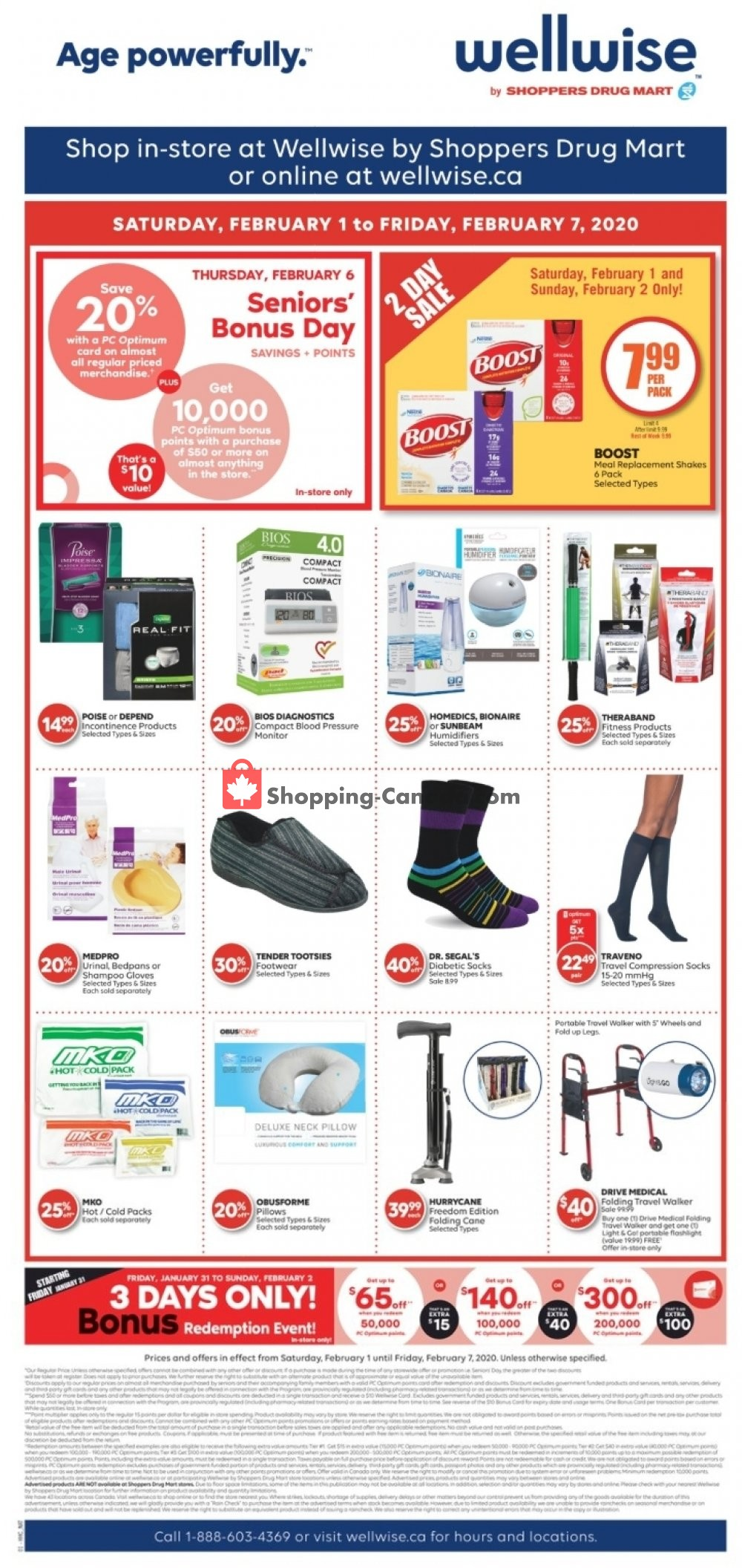 Flyer WellWise by Shoppers Drug Mart Canada - from Saturday February 1, 2020 to Friday February 7, 2020