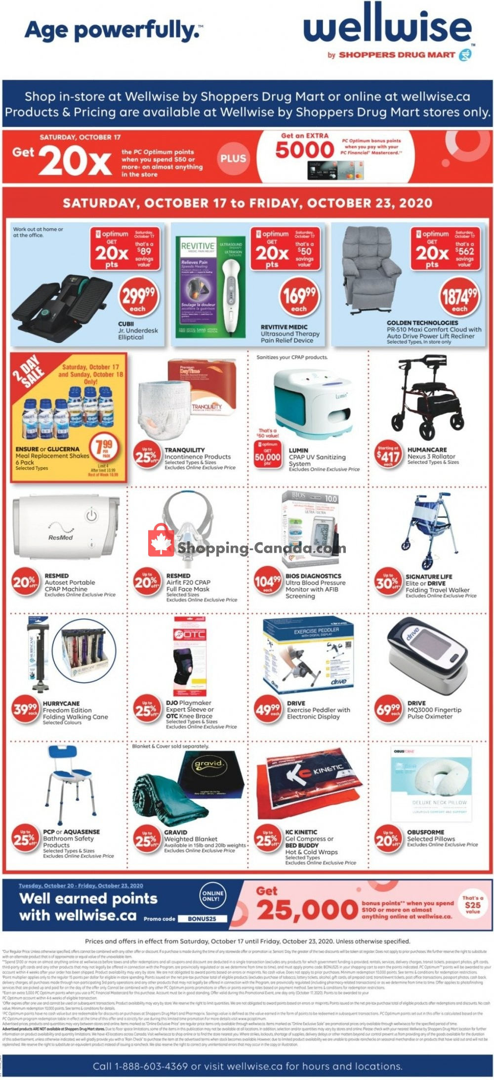 Flyer WellWise by Shoppers Drug Mart Canada - from Saturday October 17, 2020 to Friday October 23, 2020
