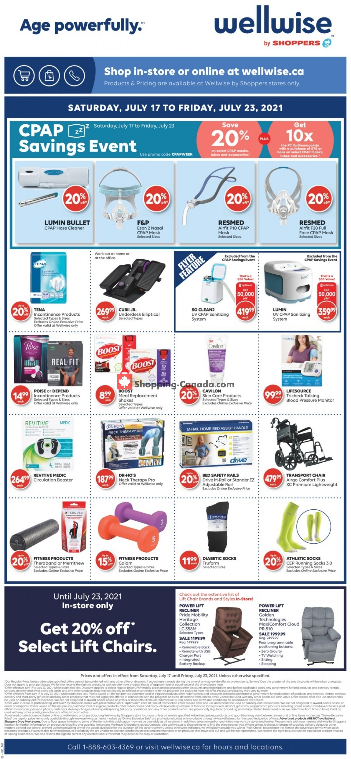 Flyer WellWise by Shoppers Drug Mart Canada - from Saturday July 17, 2021 to Friday July 23, 2021