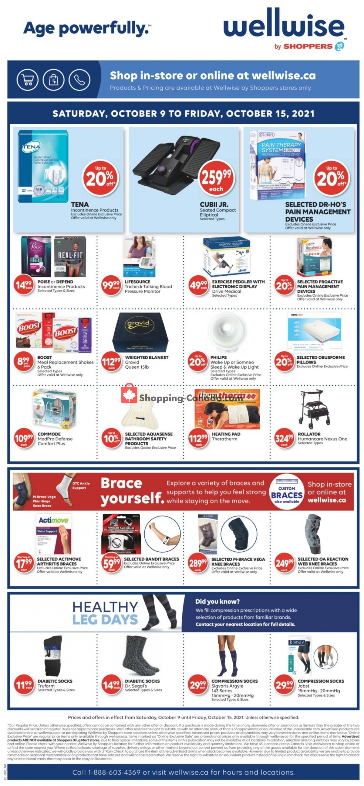 Flyer WellWise by Shoppers Drug Mart Canada - from Saturday October 9, 2021 to Friday October 15, 2021