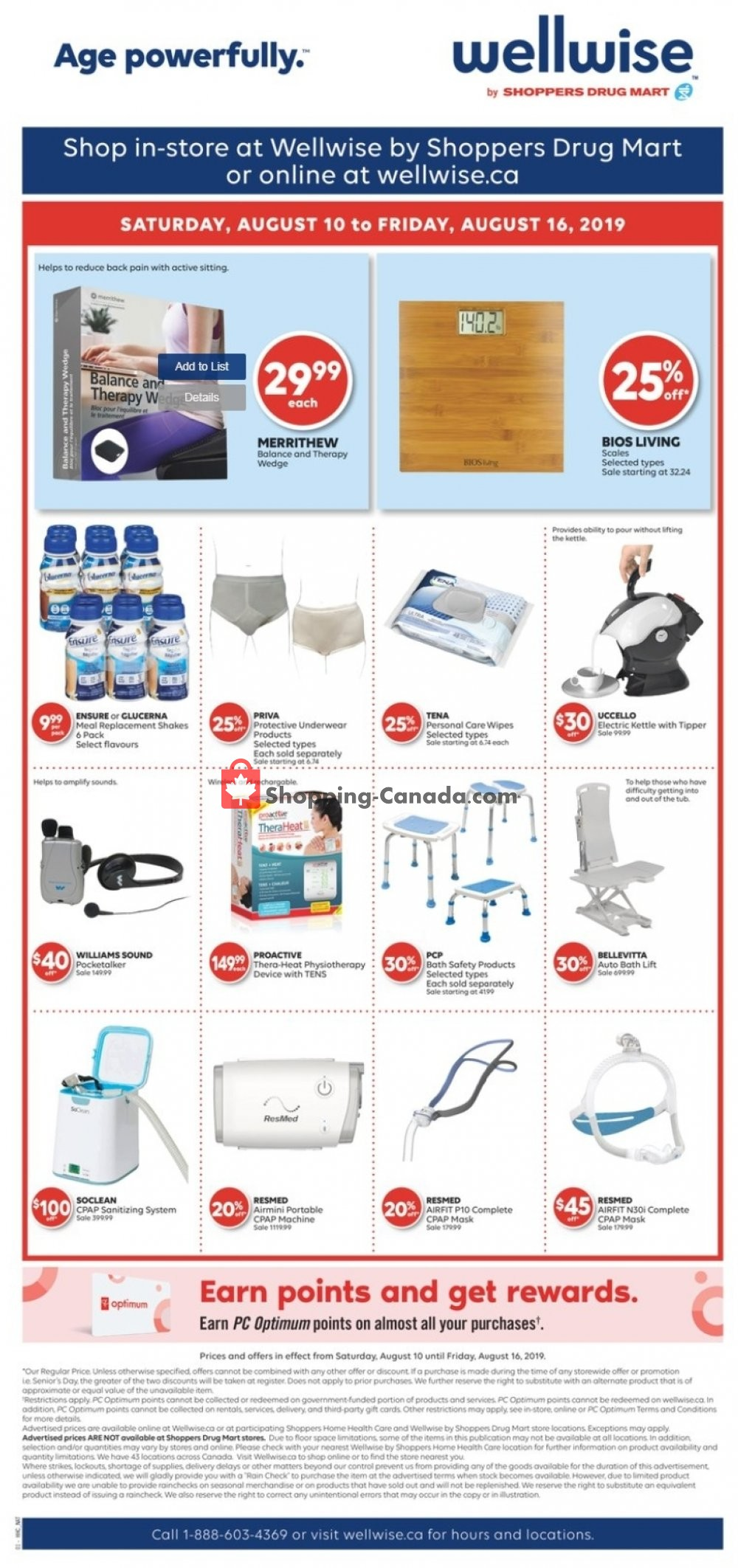 Flyer WellWise by Shoppers Drug Mart Canada - from Saturday August 10, 2019 to Friday August 16, 2019