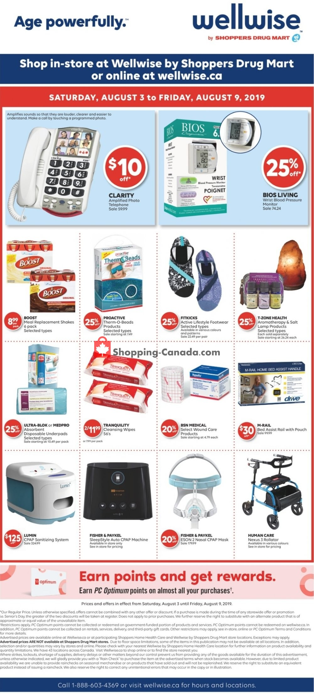 Flyer WellWise by Shoppers Drug Mart Canada - from Saturday August 3, 2019 to Friday August 9, 2019