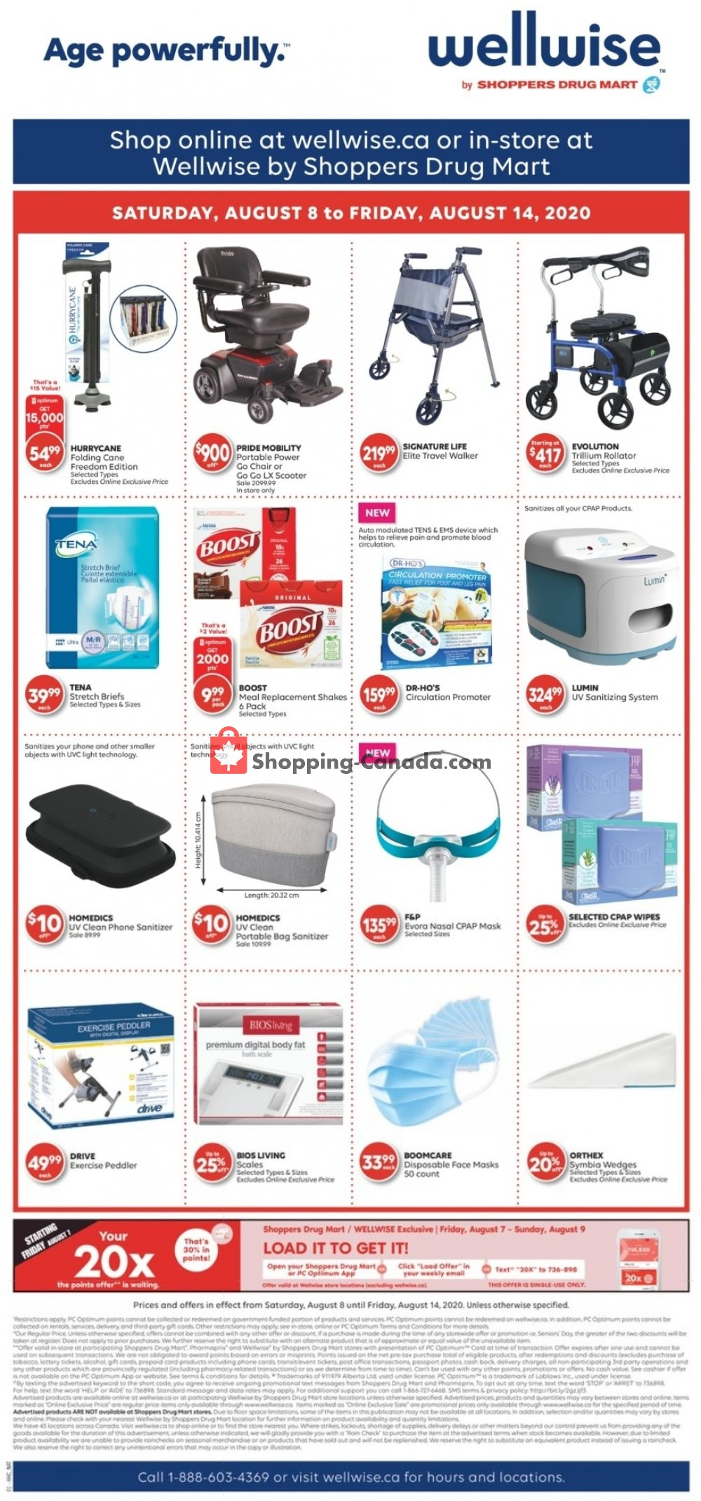 Flyer WellWise by Shoppers Drug Mart Canada - from Saturday August 8, 2020 to Friday August 14, 2020