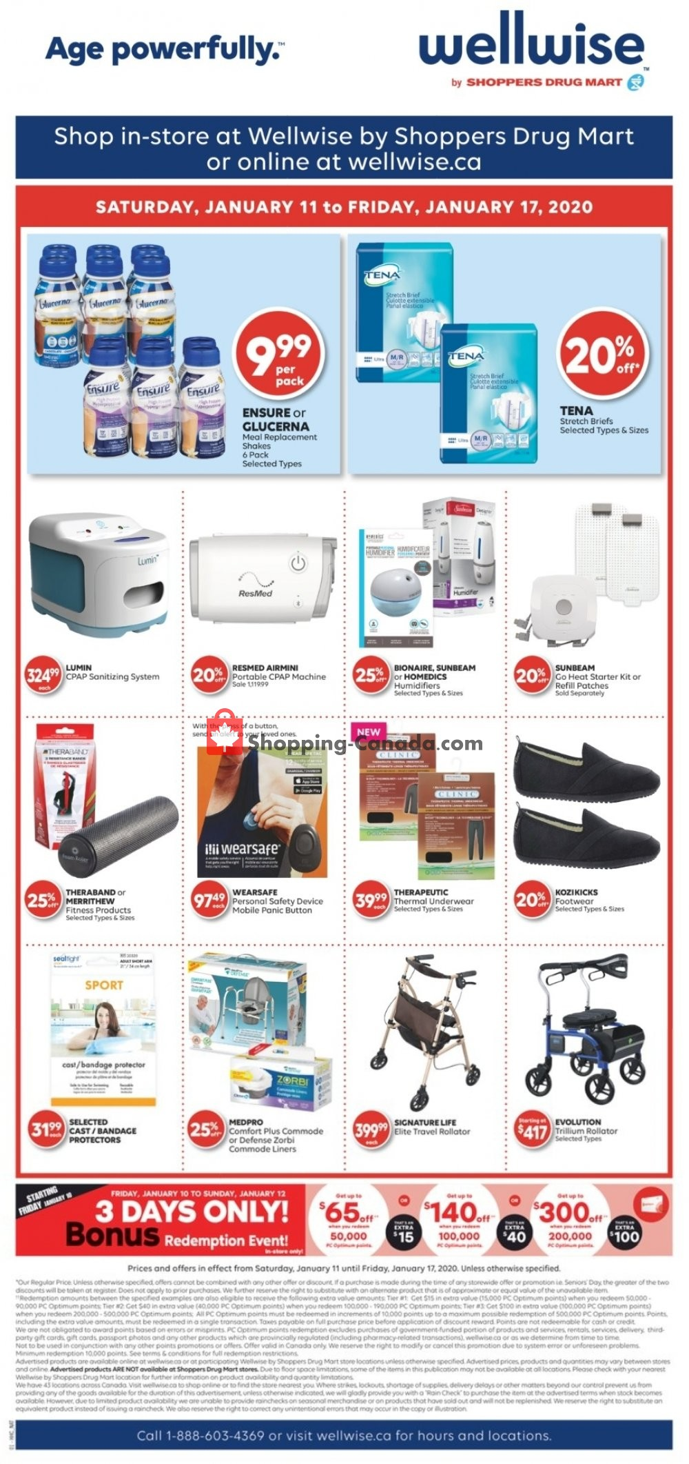Flyer WellWise by Shoppers Drug Mart Canada - from Saturday January 11, 2020 to Friday January 17, 2020
