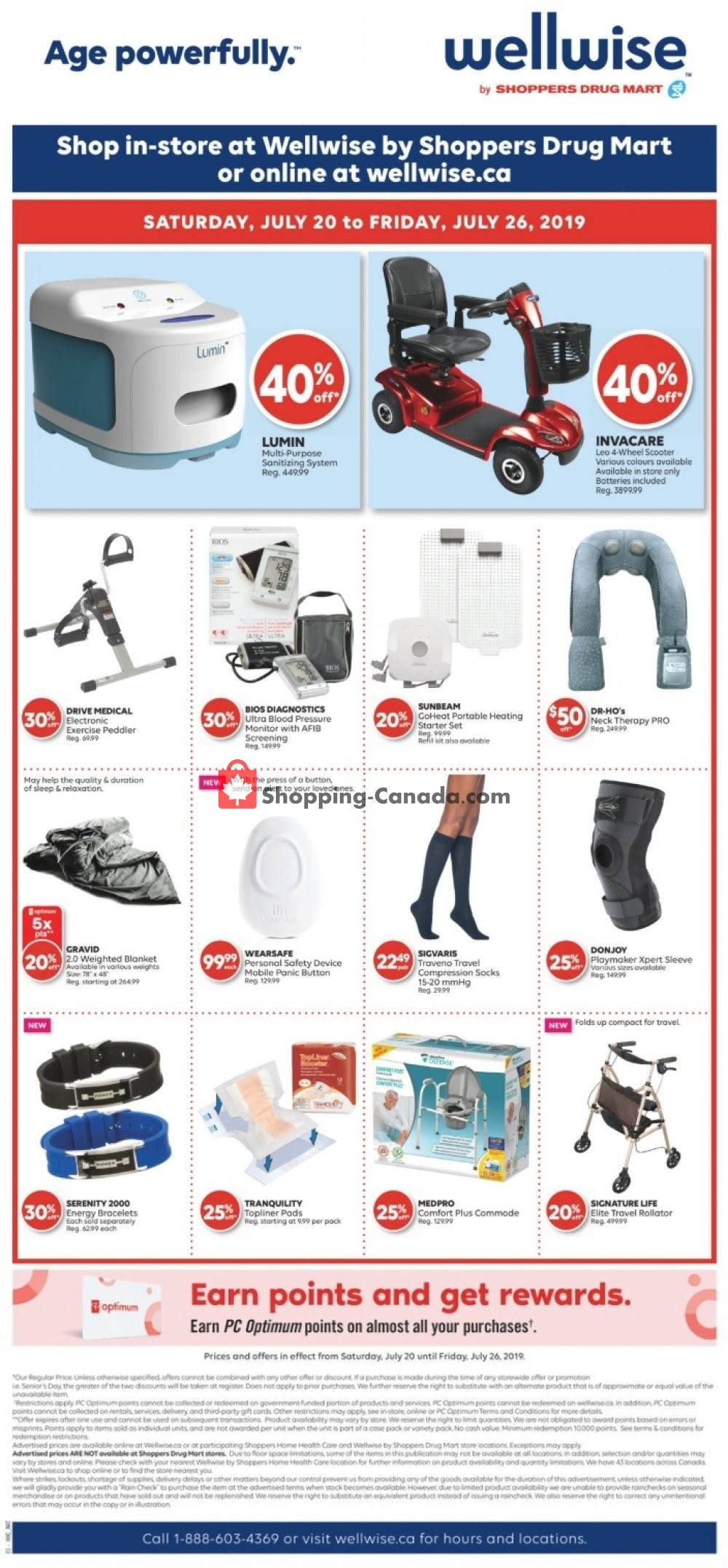Flyer WellWise by Shoppers Drug Mart Canada - from Saturday July 20, 2019 to Friday July 26, 2019