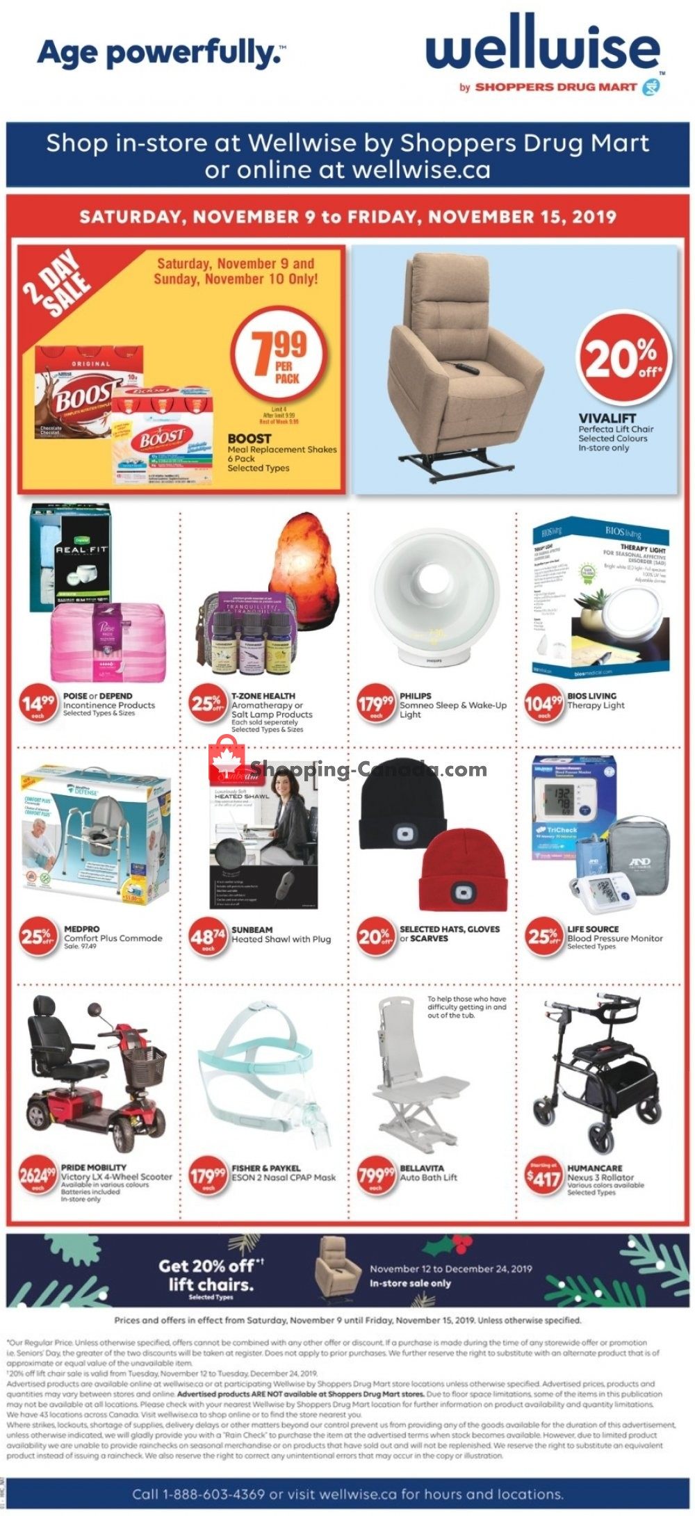 Flyer WellWise by Shoppers Drug Mart Canada - from Saturday November 9, 2019 to Friday November 15, 2019