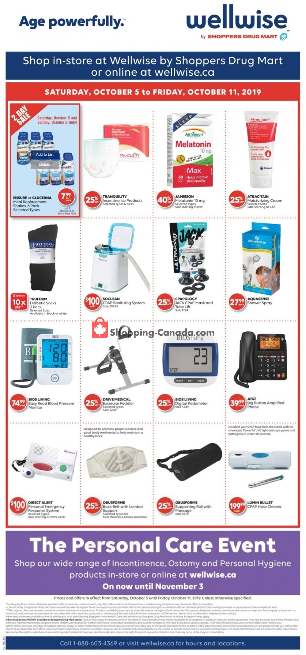 Flyer WellWise by Shoppers Drug Mart Canada - from Saturday October 5, 2019 to Friday October 11, 2019