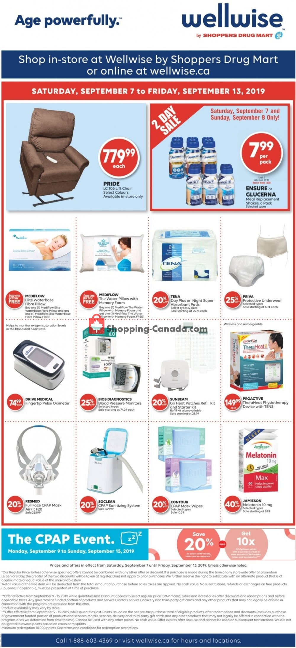 Flyer WellWise by Shoppers Drug Mart Canada - from Saturday September 7, 2019 to Friday September 13, 2019
