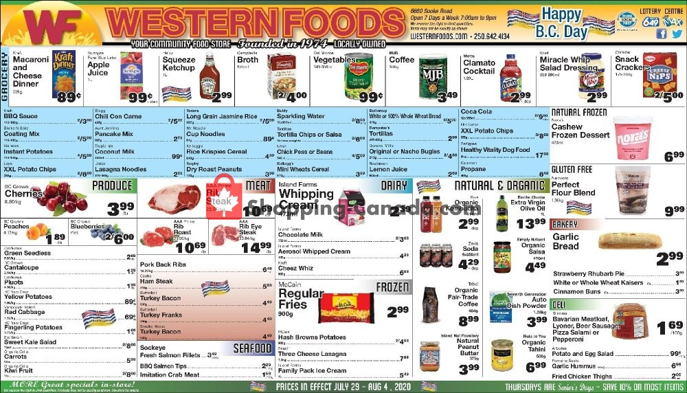 Flyer Western Foods Canada - from Wednesday July 29, 2020 to Tuesday August 4, 2020