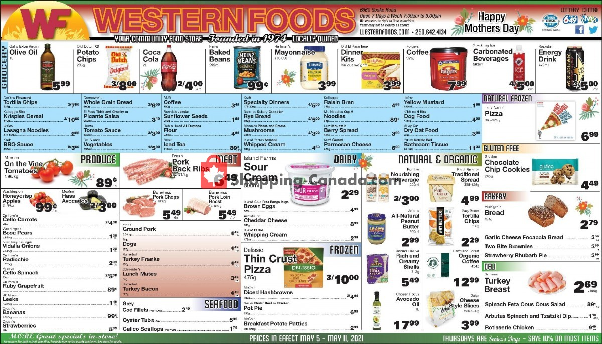 Flyer Western Foods Canada - from Wednesday May 5, 2021 to Tuesday May 11, 2021
