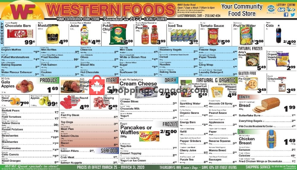 Flyer Western Foods Canada - from Wednesday March 25, 2020 to Tuesday March 31, 2020