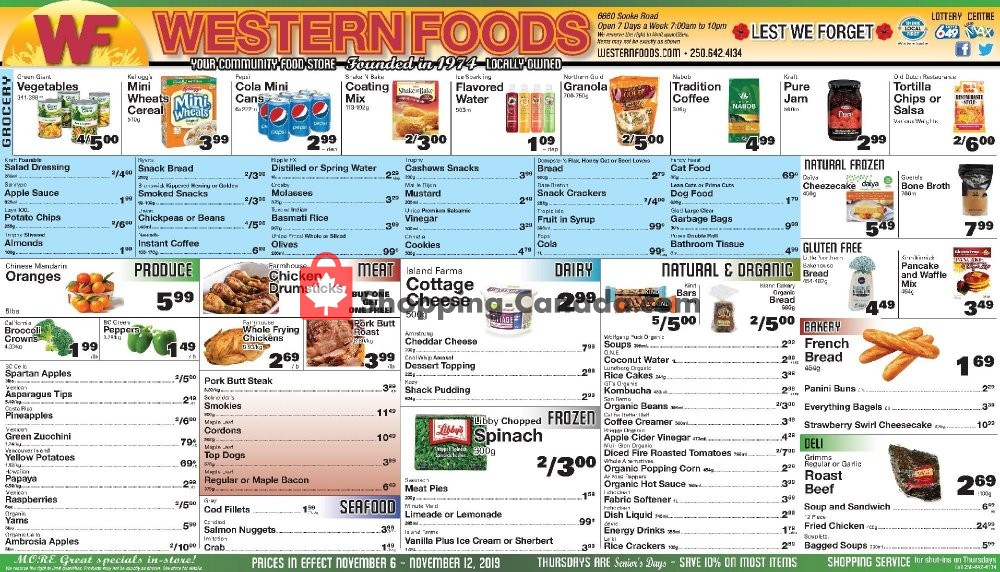 Flyer Western Foods Canada - from Wednesday November 6, 2019 to Tuesday November 12, 2019