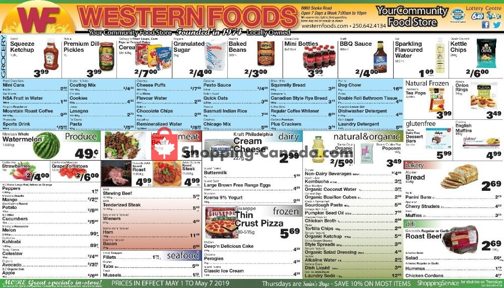 Flyer Western Foods Canada - from Wednesday May 1, 2019 to Tuesday May 7, 2019