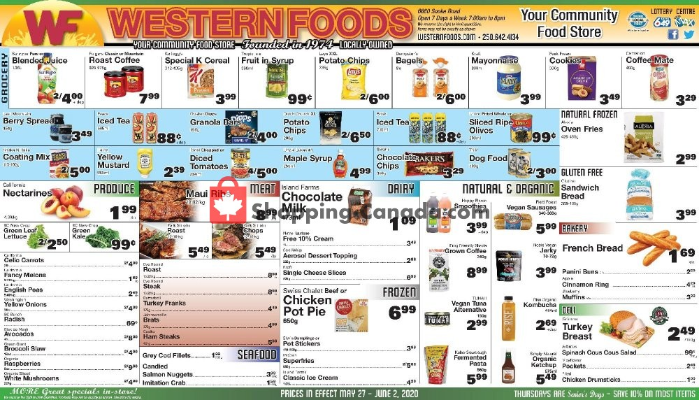 Flyer Western Foods Canada - from Wednesday May 27, 2020 to Tuesday June 2, 2020