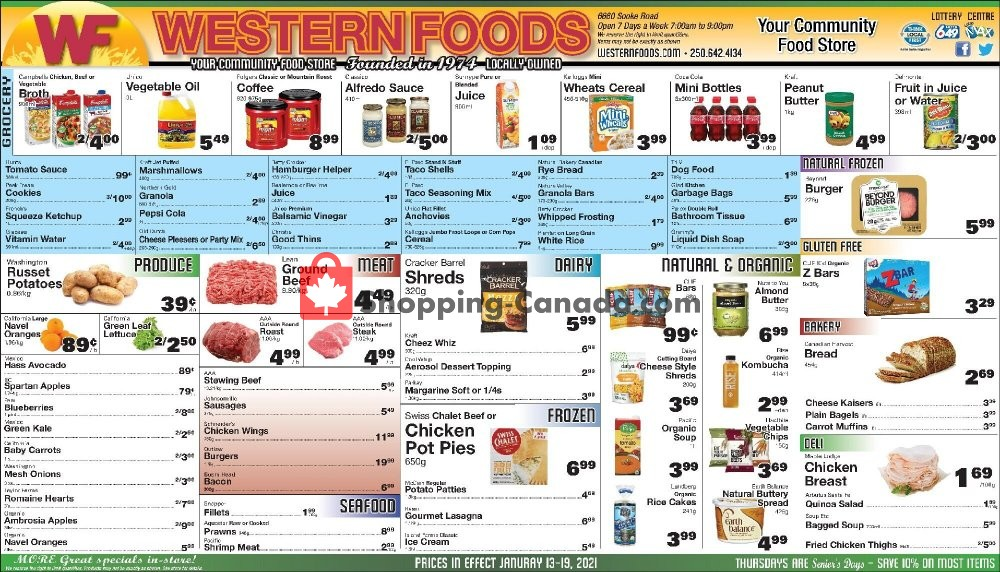 Flyer Western Foods Canada - from Wednesday January 13, 2021 to Tuesday January 19, 2021