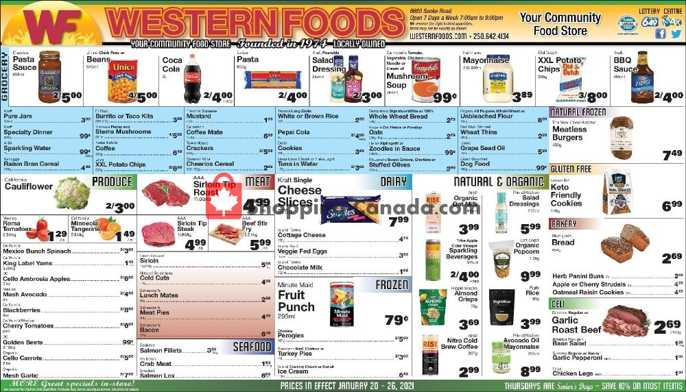 Flyer Western Foods Canada - from Wednesday January 20, 2021 to Tuesday January 26, 2021
