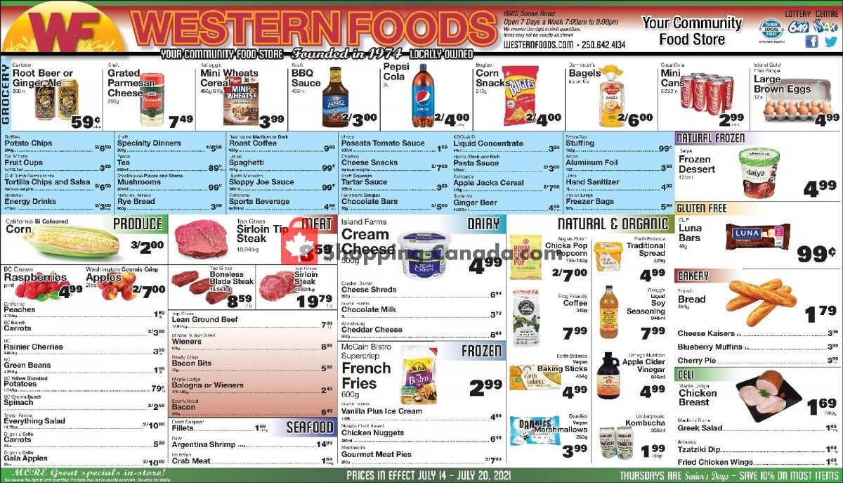 Flyer Western Foods Canada - from Wednesday July 14, 2021 to Tuesday July 20, 2021