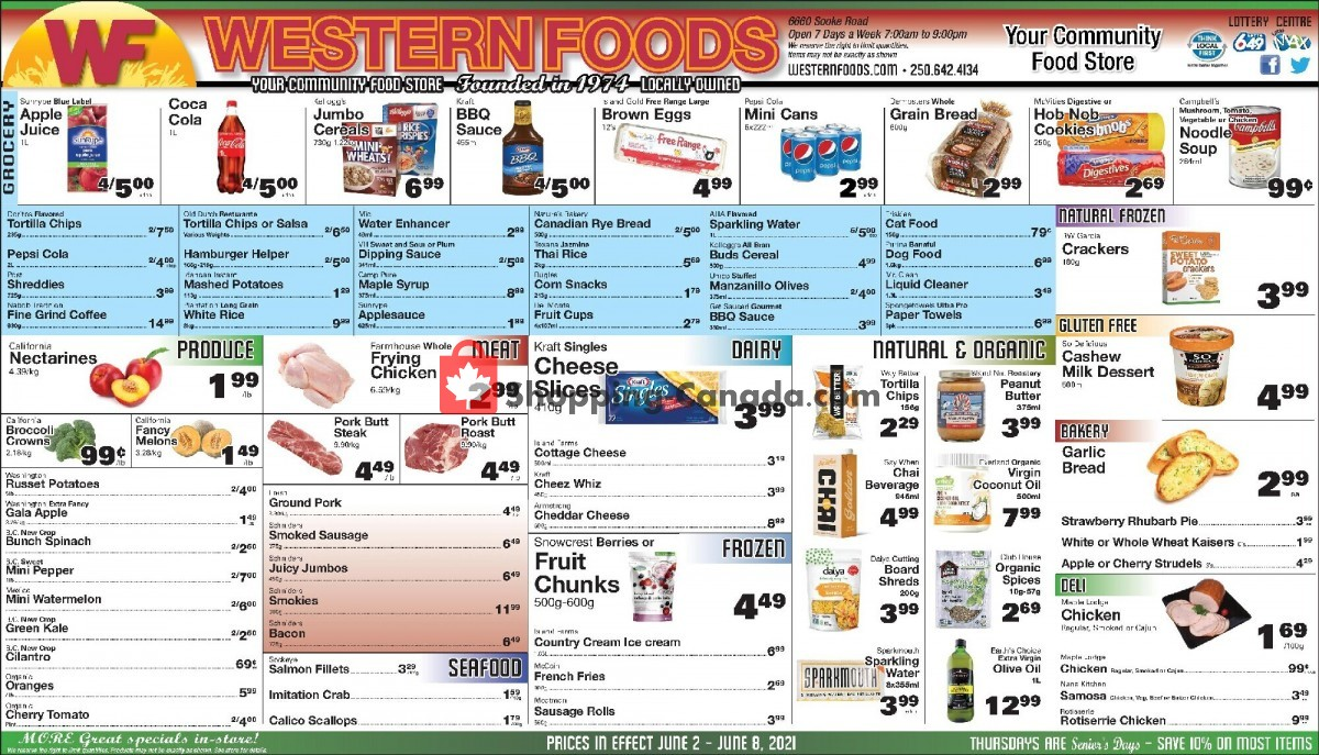 Flyer Western Foods Canada - from Wednesday June 2, 2021 to Tuesday June 8, 2021