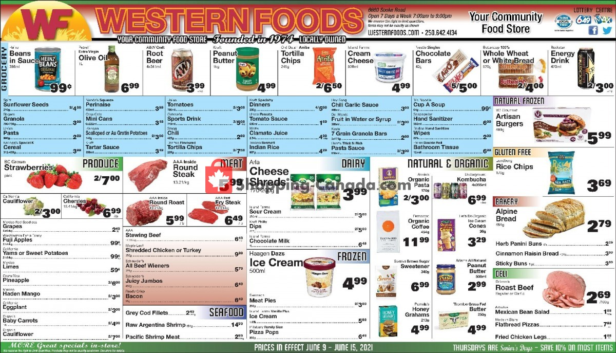 Flyer Western Foods Canada - from Wednesday June 9, 2021 to Tuesday June 15, 2021